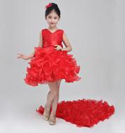 Girls dress wedding flower girl dress skirt child Princess Dress Costume skirt tail 888 piano