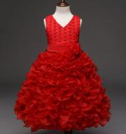 Flower girl dress skirt embroidered princess dress sleeveless dress wedding dress skirt