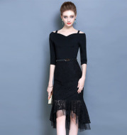 2021 new summer dress Couture summer party dress evening skirt thin little black dress.