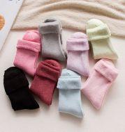 Pure cotton thickened women's towel socks