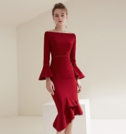 2021 new women's dress in autumn and winter