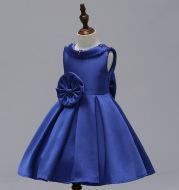 Mei Qiai children dress a shoulder dress flower princess skirt Tutu thick satin wedding dress show children clothing