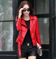 Haining leather leather jacket