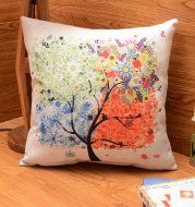 Cotton and linen pillowcase