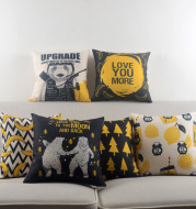 Cotton and hemp pillows with all kinds of cushions