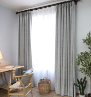 Solid color modern simple thick cotton curtain fabric