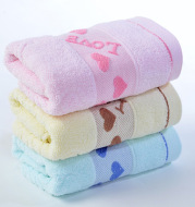 Caring pure cotton face towel