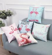 Flamingo sofa pillow