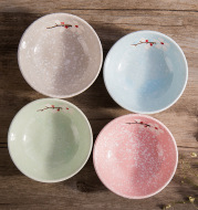 Pottery small dish Japanese tableware seasoning sauce vinegar dish kitchen dish creative small dish plate