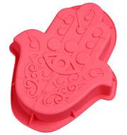 Factory spot wholesale corn silicone cake mold lucky hand Hamsa hand cake baking tray customization