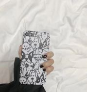 Lovely animal graffiti,6 mobile phone shell iPhone7plus/8/6s/X creative personality silicon rubber sleeve female money