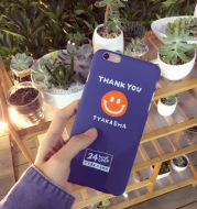 Thank you simple smile,6S mobile phone shell iPhone7plus/5s/SE creative anti tide brand