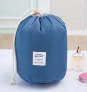 Cylindrical Waterproof Nylon Cosmetic Bag