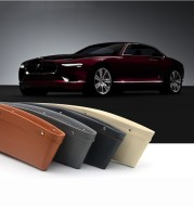 Car Organizer Box Caddy Catcher PU Leather Seat Gap Storage Bag