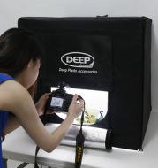 DEEP LED photographic studio photography lamp kit softbox 60CM set wholesale
