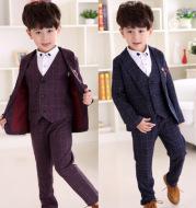Three-piece suit, vest, pants, children's wear