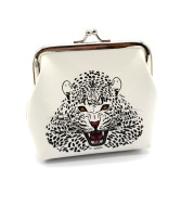 Custom fashion leopard printing zero purse lovely owl mouth gold bag with small bag and small gift wholesale