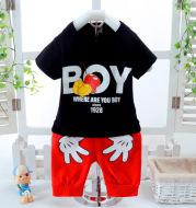 Summer new short sleeve boy suit