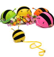 Supercute preschool children anti loss book bag small bee shoulder bag pack mini one generation