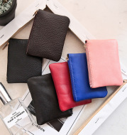 2021 new small sheepskin leather purse wallet bank card set mini small coin pouch to fight a lot of supply