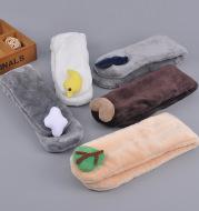 Children's plush warm bib
