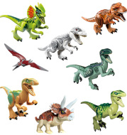 Jurassic Park dinosaur building blocks assembled educational toys 8 bags