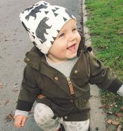 Tide brand baby hooded cap