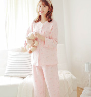 Autumn and winter warm air layer quilted month clothes long sleeve thickening breastfeeding pajamas large size maternity dress