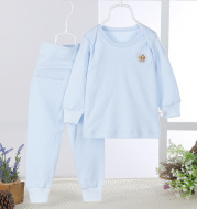 The baby belly waist support pants suit cotton baby long johns children underwear girls and boys Homewear loungewear wholesale