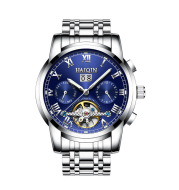 A man watches hedge automatic mechanical watches Tourbillon waterproof hollow men's swimming.