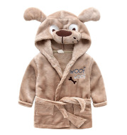 Children's flannel cartoon bathrobe