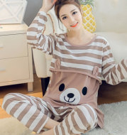 Confinement nursing mother pajamas