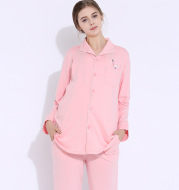 Spring and summer months clothes cotton breastfeeding clothes pregnant women pajamas home service suits fashion maternity dress