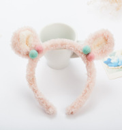Plush bear ear headband