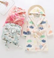 Children's flannel bathrobes