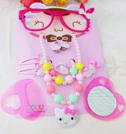 Children's Pearl Necklace Bracelet nine piece set