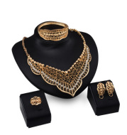 Wild style alloy necklace earrings