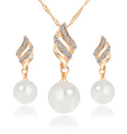 Pearl Stud Necklace Set