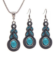 Turquoise necklace earrings