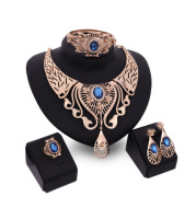 Necklace, earrings, bracelet, ring set