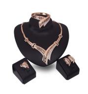 Four piece earring necklace bracelet