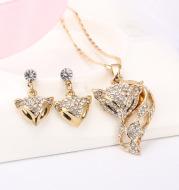 Fox necklace earring set