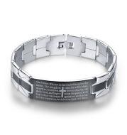 Cross stainless steel bracelet bracelet