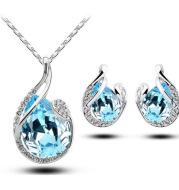 Rhinestone Earring Necklace