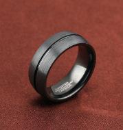 Black titanium steel ring
