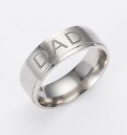 Monogram ring titanium steel ring