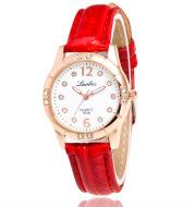 Diamond ladies leather watch