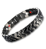 Heart-shaped magnet titanium steel bracelet