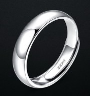 Glossy Ring Simple Men's Silver Ring