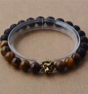 Lion head bead yoga bracelet